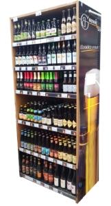 cave à bières bois bordure bière