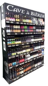 cave à bières artisanales noire large