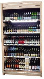 cave à bières artisanales en bois