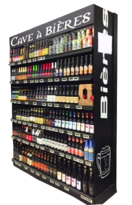 cave à bières artisanales noire